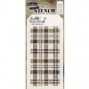 THS097 Stampers Anonymous Tim Holtz Layering Stencil - Plaid